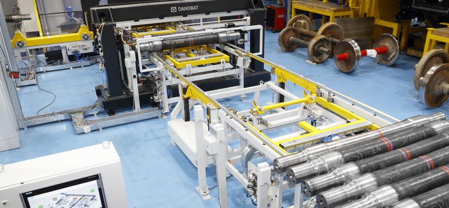 Axle measuring machine