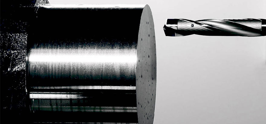 Axles ends facing machine drilling