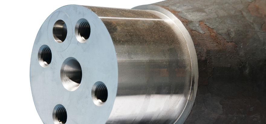 Axles ends facing machine later