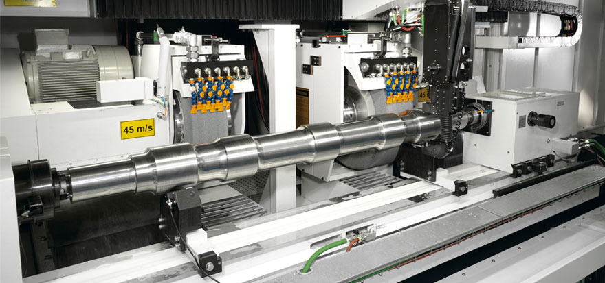 Axles grinding machine